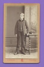 Photo CDV 1880 ASSELIN MANTES garçon en uniforme de collégien A069