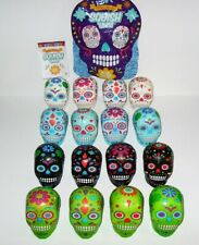 SQUISHUMS SKULL SERIES SLOW RISE SQUISHY COMPLETE SET OF 16 SKULLS LOOSE
