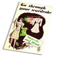 Make Do And Mend Vintage Advert - Vintage Art Print Poster - A1 A2 A3 A4 A5