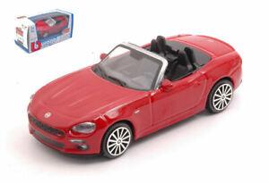 Modellino auto scala 1:43 Burago FIAT 124 SPIDER diecast collezione modellismo
