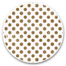 2 x Vinyl Stickers 30cm - Distressed Brown Polka Dot Pattern  #44885