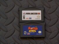 Lot Nintendo Game Boy Advance GBA Games FIFA SOCCER 06 + SOCCER MANIA