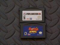 Lot Nintendo Game Boy Advance GBA Games FIFA SOCCER 06 + SOCCER MANIA