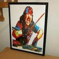 Vinnie Paul Pantera Drummer Damageplan Heavy Metal 18x24 Wall Art Poster Print