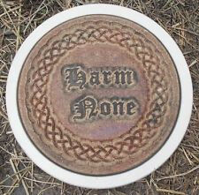 Harm None Gothic pagan Wicca plastic stepping stone mold mould