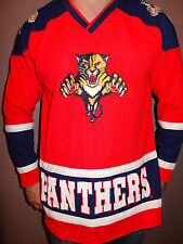 Florida Panthers Sewn Vintage 90's Red Jersey Sz Youth L Men S Jr's L