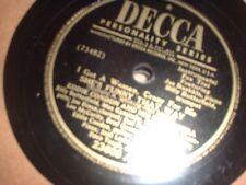 78RPM Decca 23600 Eddie Condon, She's Funny That Way/Improv 4 the March of Ti V+