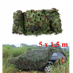 5x1.5m Oxford Woodland Camouflage Military Army Camo Hunting Shooting Cover