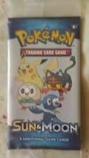 Sun & Moon Pokemon Trading Card Game 2017 One Pack of 3 Unopened