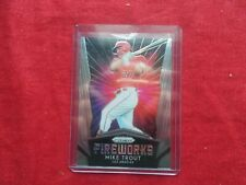 """MIKE TROUT-2019 PANINI PRIZM(F1) REFRACTOR """"FIREWORKS""""  ANGELS"""