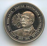 GY829 Medaille Otto Fürst von Bismarck 1815-1898 Erster deutscher Reichskanzler
