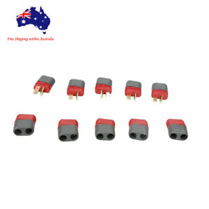 5 Pairs Ultra T Deans Plug Connector Anti- Skidding RC Battery ESC W/ Protector