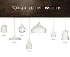 Lámpara colgante de iluminación de techo de interior de aluminio color principal blanco