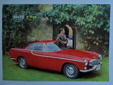 VOLVO P1800 SPORTS CAR orig 1961 UK Mkt Sales Leaflet Brochure - P 1800