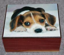 #4032 PUPPY EYES KEEPSAKE,JEWELRY,DECORATION SMALL TRINKET WOOD CEDAR BOX