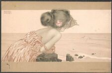 Raphaël Kirchner. Girls between brown-green borders. Dell'Aquila D.25-5. 1901