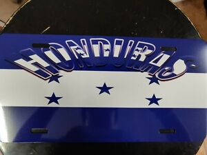 HONDURAS  Metal  License Plate Cover with Design