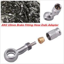 AN3 10mm Stainless Steel Banjo Eye Brake Hose Fitting/Hose Ends Adapter 0 °/28°
