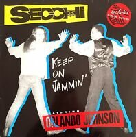 "Secchi Featuring Orlando Johnson 12"" Keep On Jammin' - Holland (VG/VG)"