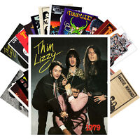 THIN LIZZY Postcards (24 card) Vintage Music Photos Poster Magazine Cover 1229