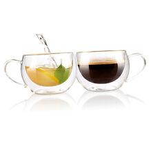 Teeglas: Doppelwandiges Kaffee- & Tee-Glas, 2er-Set (Teetassen)