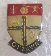 Vintage City of Ottawa Coat of Arms Travel Souvenir Collector Pin-Ontario Canada