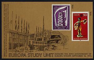 Europa Study Unit MNH 20th Anniversary Sheet
