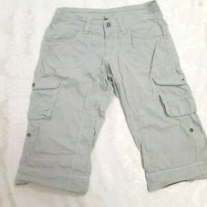 Kuhl  Khaki Cargo Capris Roll Up Hiking Pants  Size 4  f
