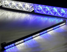 """35"""" 36"""" 32 LED Emergency Traffic Advisor Light Bar Flash Strobe White Blue"""
