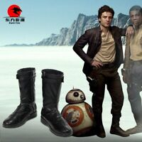 DFYM Star Wars The Last Jedi Poe Dameron Cosplay Leather Boots Shoes Customize