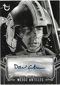 Star Wars A New Hope Black and White Autograph Denis Lawson as Wedge Antilles