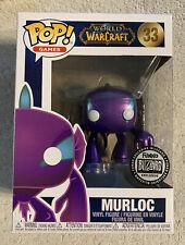 Funko Pop World Of Warcraft Murloc Purple Metallic Blizzard Excl 33 In Protector
