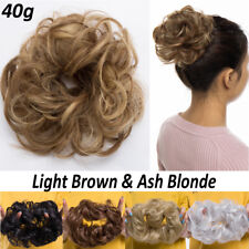 100% Natural Real Thick Messy Bun Scrunchie Hair Extension Blonde Brown Human HU