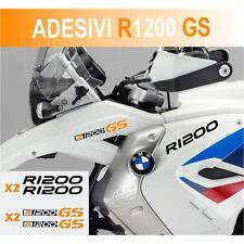 KIT ADESIVI BMW R 1200 GS STICKER BICLORE R1200GS ADESIVO NERO ARANCIONE CARENA