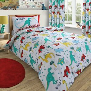 Dinosaurs World Duvet Cover Kids Boys Cotton Rich Single Bed Quilt Bedding Set