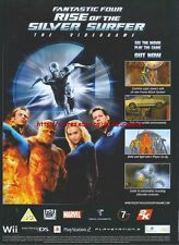 """Fantastic Four Rise Of The Silver Surfer """"Out Now"""" 2007 Magazine Advert #4906"""