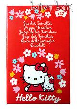 Fille : Jeux des 7 Familles 42 Cartes à jouer Hello Kitty Sanrio