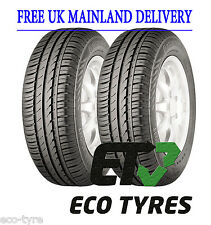 2X Tyres 165 60 R14 75T Continental ContiEcoContact™ 3 E B 70dB
