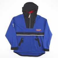 Vintage PACO SPORT Tek Wear Blue Outdoor 1/4 Zip Jumper Mens L