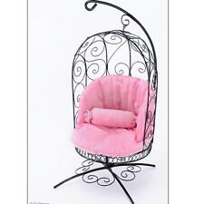 [Dollmore] Bjd 1/4 Scale Bird Cage Style Iron Chair (Black/Pink)