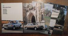 MERCEDES BENZ S CLASS orig 1980 UK Mkt Prestige Brochure + Specs  380 500 SE SEL