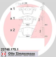 Bremsbelagsatz Scheibenbremse - Zimmermann 23746.175.1