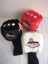 NEW Winning Edge Welcome To Vegas Dice 3 Ct Set 460cc Red/White/Blk headcover