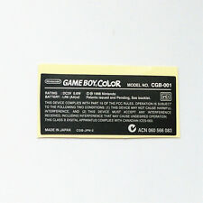 5 PCS Replacement Back Sticker Label For Nintendo Game boy Color GBC Console