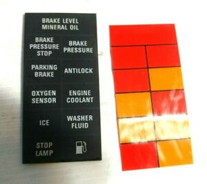 LATE ROLLS ROYCE SILVER SPUR WARNING LIGHTS PANEL AND BACKLIGHT
