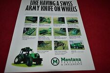 Montana Tractor Implements Dealer's Brochure YABE12