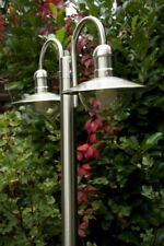 Laterne Gartenlaterne Kandelaber Außenlampe Stehleuchte Wegeleuchte Edelstahl 2