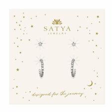 Satya Jewelry,  Luminous Starlight Elemental Hoop Earring Set