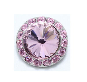 3D Crystal Chunk Charm Snap Button Fit For Noosa Necklace/Bracelet  NSKZ104