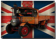 FODEN 1928 PRIDE OF LONDON STEAM LORRY METAL SIGN.LONDON PRIDE BEER.